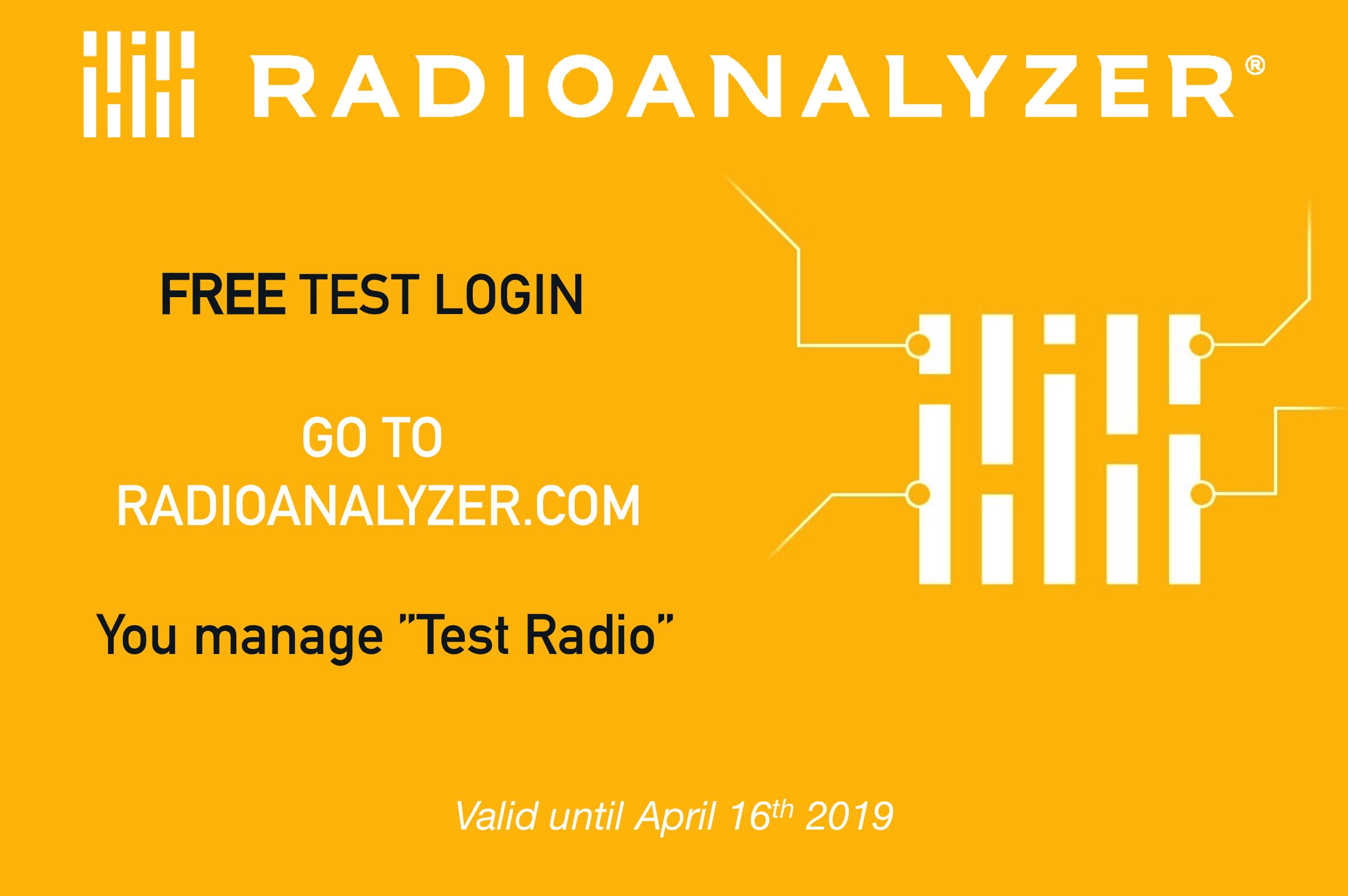 Be a RadioAnalyzer Yourself